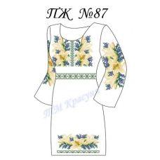 ПЖ-087 Заготовка платья для вышивки ТМ Красуня