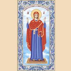 РИК-2-006 Образ Пресвятой Богородицы. Схема для вышивки бисером. ТМ Маричка