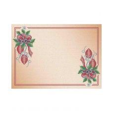 А3-С-008 Салфетка новогодняя Новогоднее украшение Схема для вышивки бисером ТМ Acorns