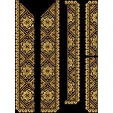 СЧд-001 Бисерная заготовка сорочка черная. Барвиста Вишиванка
