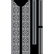 СЧд-006 Бисерная заготовка сорочка черная. Барвиста Вишиванка