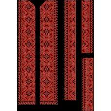 СЧд-008 Бисерная заготовка сорочка черная. Барвиста Вишиванка