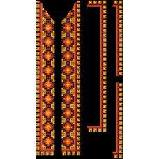 СЧд-011 Бисерная заготовка сорочка черная. Барвиста Вишиванка