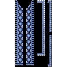 СЧд-012 Бисерная заготовка сорочка черная. Барвиста Вишиванка