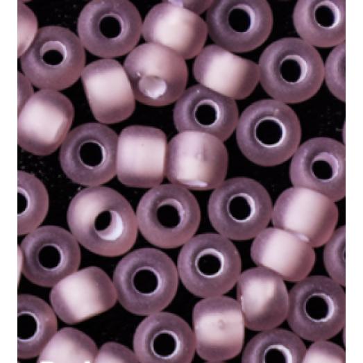 25086м Бисер Preciosa прозрачный фиолетовый с белой серединкой матовый