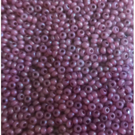 17498 Бисер Preciosa бордово-розовый, полупрозрачный, радужный