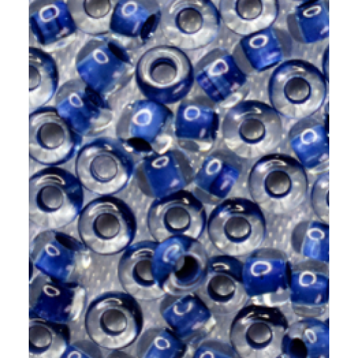38066 Бисер Preciosa синий с прокрашенной серединкой внутри
