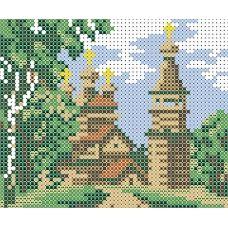 ФПК-6000 Сельская церковь. Схема для вышивки бисером Феникс