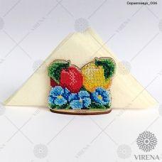 СРВ-006 Деревянная салфетница для вышивки бисером ТМ Вирена