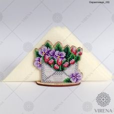 СРВ-011 Деревянная салфетница для вышивки бисером ТМ Вирена