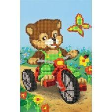 SI-185 Медвежонок на велосипеде. Схема для вышивки бисером СвитАрт