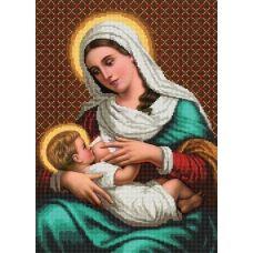 SI-238 (А3) Мадонна и дитя. Схема для вышивки бисером СвитАрт