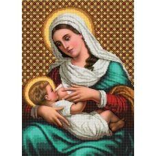 SI-238a (А3) Мадонна и дитя. Схема для вышивки бисером СвитАрт
