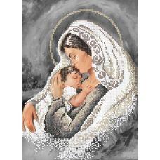 SI-387 Мадонна с младенцем. Схема для вышивки бисером СвитАрт