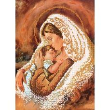 SI-387a Мадонна с младенцем. Схема для вышивки бисером СвитАрт