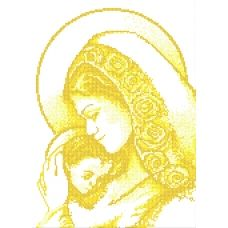 SI-387c Мадонна с младенцем. Схема для вышивки бисером СвитАрт