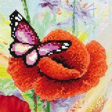 SI-451 Бабочка на маке. Схема для вышивки бисером СвитАрт