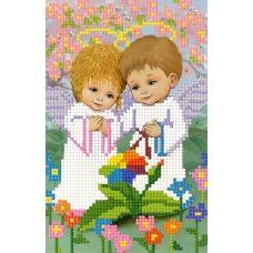 SI-586 (А5) Ангелочки в саду. Схема для вышивки бисером СвитАрт