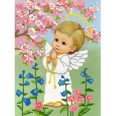 SI-587(А4) Ангелочек мальчик. Схема для вышивки бисером СвитАрт