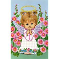 SI-590 (15*21) Ангелочек девочка. Схема для вышивки бисером СвитАрт