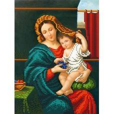 SI-695 (А4) Мадонна с ребенком. Схема для вышивки бисером СвитАрт