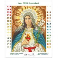 СМ-02 (набор) Сердце Марии. Набор для вышивки бисером. БС Солес