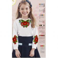 Sor1 Заготовка сорочки для девочки БисерАрт
