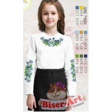 Sor103 Заготовка сорочки для девочки БисерАрт