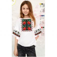 Sor110 Заготовка сорочки для девочки БисерАрт