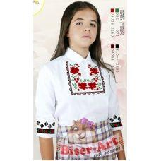 Sor111 Заготовка сорочки для девочки БисерАрт