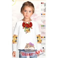 Sor12 Заготовка сорочки для девочки БисерАрт