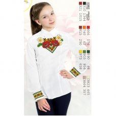 Sor19 Заготовка сорочки для девочки БисерАрт