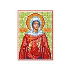 А6-И-098 Святая мученица Калиса (Алиса). Схема для вышивки бисером ТМ Acorns