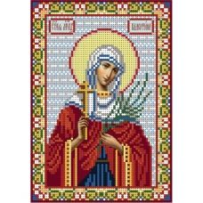 А5-И-036 Святая мученица Валентина. Схема для вышивки бисером ТМ Acorns