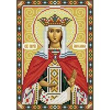 А5-И-034 Святая преподобная Ангелина. Схема для вышивки бисером ТМ Acorns
