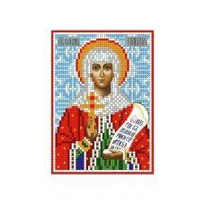 А6-И-101 Святая великомученица Клавдия. Схема для вышивки бисером ТМ Acorns