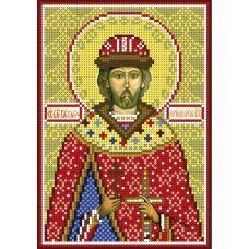 А5-И-179 Святой князь Юрий. Схема для вышивки бисером ТМ Acorns