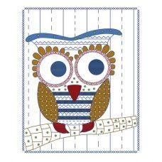 ТВ-0001 Совушка. Ткань для вышивки декоративными швами ТМ ВДВ
