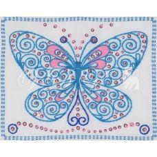 ТВ-0005 Бабочка. Ткань для вышивки декоративными швами ТМ ВДВ