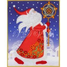 ТВ-0006 Дед Мороз. Ткань для вышивки декоративными швами ТМ ВДВ