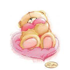 ТД-011 Медвежонок с сердечком. Схема для вышивки бисером Тела Артис