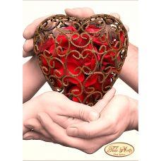 ТД-014 Одно сердце на двоих. Схема для вышивки бисером Тела Артис
