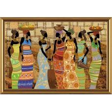 ДК1038 Африканские красавицы. Набор для вышивки бисером Нова Слобода