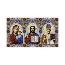 А2-И-001 Триптих Иисус - Казанская - Николай Чудотворец. Схема для вышивки бисером ТМ Acorns