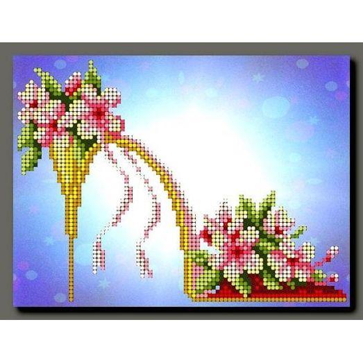 А-064 Tуфли № 7.Схема для вышивки бисером ТМ Орхидея