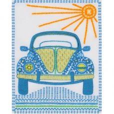 ТВ-0002 Машинка. Ткань для вышивки декоративными швами ТМ ВДВ