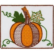 ТВ-0003 Тыква. Ткань для вышивки декоративными швами ТМ ВДВ