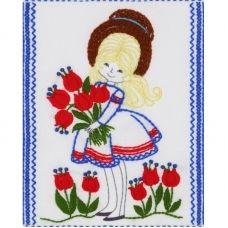 ТВ-0004 Девочка. Ткань для вышивки декоративными швами ТМ ВДВ