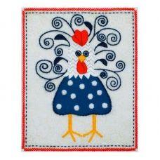 ТВ-0009 Петушок. Ткань для вышивки декоративными швами ТМ ВДВ