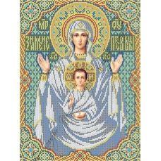 ИК3-0261 Икона Знамение Пресвятой Богородицы. Схема для вышивки бисером Феникс